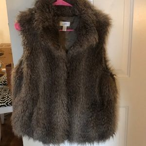 Ann Taylor Loft Faux Fur Vest